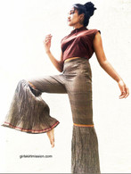 ALL NEW Rocket Pants - Crushed Bell Bottoms - Gray Yellow Red