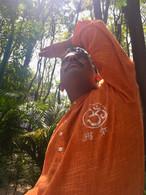 ALL NEW 100% Cotton Kurta Shirts in Two-Tone SLUB ORANGE AUM (UNISEX) - M