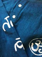 ALL NEW 100% Cotton Kurta Shirts in Two-Tone Blue AUM (UNISEX) - M