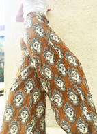All New Bell Bottoms - Palazzo Wide Leg Pant - Golden Faces -M/L/XL