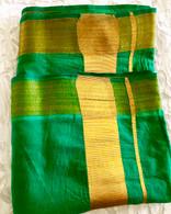 NEW UNISEX INDIAN WRAP YOGA PANTS - Green Gold - XL