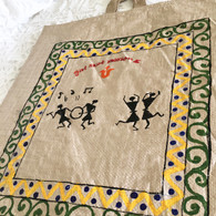 Beautiful Hand Painted Up-Cycled Bag #4 - Free with Rocket Pant Purchase