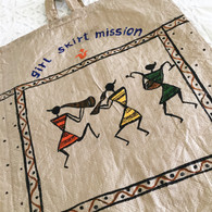 Beautiful Hand Painted Up-Cycled Bag #8 - Free with Rocket Pant Purchase