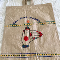 Beautiful Hand Painted Up-Cycled Bag #13 - Free with Rocket Pant Purchase