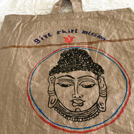 Beautiful Hand Painted Up-Cycled Bag #16 - Free with Rocket Pant Purchase
