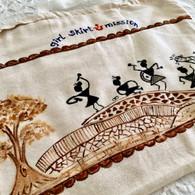 Beautiful Hand Painted Cloth Bag #23