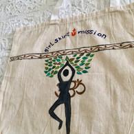 Beautiful Hand Painted Cloth Bag #26