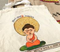 Beautiful Hand Painted Cloth Bag #27