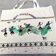 Beautiful Hand Painted Cloth Bag #33