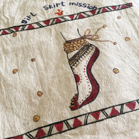 Beautiful Hand Painted Cloth Bag #36