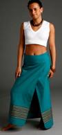 XS Sumati Green Wrap Around Skirt - Size XS