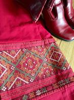 XS Red Wrap Around Skirt -XS Size