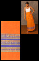 Orange Two-toned  Wrap Around Skirt XS & S