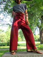Unisex Yoga Pant in Sari Burgundy M Only