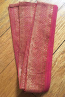Headband / Belt Wide Sari Border - PEACH - FREE with $40 ORDER!