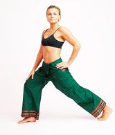 Unisex ORGANIC Indian Trim Yoga Pant in TWO-TONE GREEN - XS-M-L
