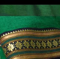 Unisex ORGANIC Indian Trim Yoga Pant in TWO-TONE GREEN/STAR - M-L