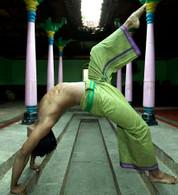 UNISEX Indian Wrap Yoga Pants Two-Tone OLIVE - S