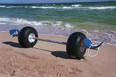 Cat Trax Catamaran beach wheels with standard hull cradles 10′ beam