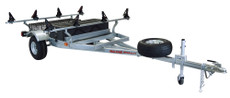 MegaSport 2 Kayak Trailer Pkg (Spare Tire, 2 Sets Saddle Up Pro, Storage Basket & Drawer) (MPG550-U)