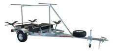 MegaSport 2-4 Kayak Trailer Pkg (Spare Tire, 2nd Tier, 2 Sets Saddle Ups, Storage Basket & Drawer) (MPG550-TU)