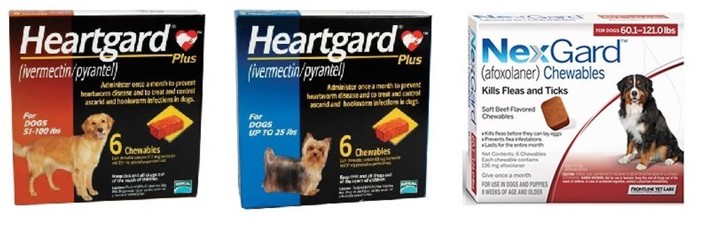 Nexgard And Heartgard Combo For Dogs 100 1 121 Lbs 6