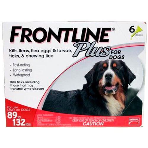 Frontline Plus for Extra Large Dogs 89-132lbs - 6 Pack