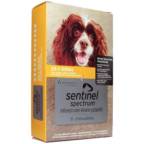 Sentinel Spectrum for Medium Dogs 25.1-50 Lbs (6 Chews)