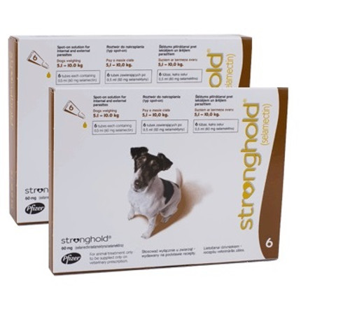 Stronghold for Dogs 10.1-20 lbs Brown 12 Pack