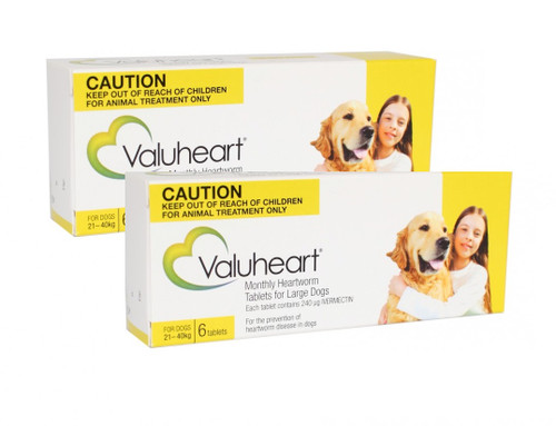 Valuheart Monthly Heartworm Tablets for Large Dogs 45-88 lbs - Gold 12 Pack