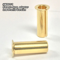 5mm to 4mm Ultra Low Resistance Adaptor (Gold) 2pcs. (Low Profile Version)