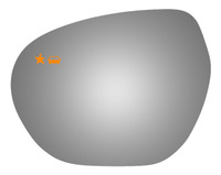 2019 BUICK ENVISION Driver Side Mirror Glass - 4674BC