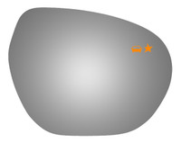 2019 BUICK ENVISION Passenger Side Mirror Glass - 5709BC