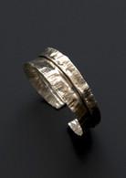 fold-formed sterling silver cuff bracelet