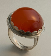 Sterling and carnelian ring