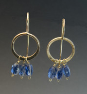 Kyanite and 14k gold-filled earrings