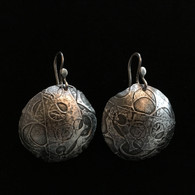 Sterling Silver Fused and Domed Circle Earrings