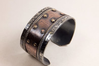 Rustic Cuff with Double Brass Rivets