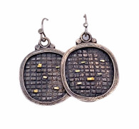 Sterling Silver Fused Earrings with 22k Gold