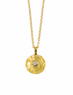 18K yellow gold and diamond pendant