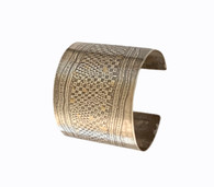 Sterling Silver and 24K Gold Keum Boo 'Wonder Woman' Cuff