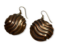 Good Vibrations Earrings -oxidized copper