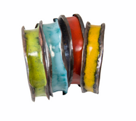 Enameled anti-clastic  copper bangles