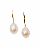!4K gold and pearl drops