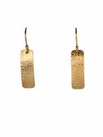 Patterned 14K GF Earrings