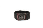 Burgundy & Black Illuminating Rockstar Cross Wristband