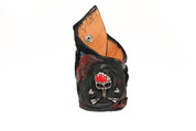 Escape of the Skull &  Bone Red & Black Wilde Life Leather Wristband