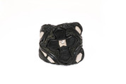 Hexagons Way Black Cross Wristband