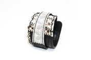 Goyard Through the Snake Skin California Roll Leather Wristband