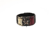All-Star Gold, Red, & Black Illuminating Leather Wristband